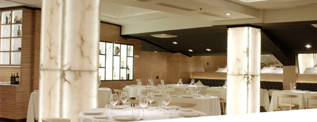 Alabaster in one of the best restaurants in Madrid